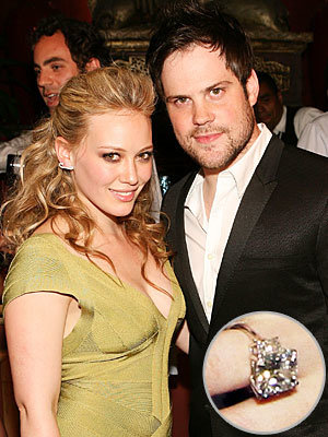 Hilary Duff - Mike Comrie - The Hottest Celebrity Engagement Rings