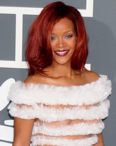 Rihanna as a red head