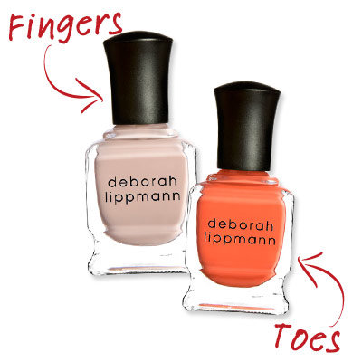 Deborah Lippmann - Creamy Hands and Risky Toes - Cute Nail Polish Combos for Your Fingers and Toes