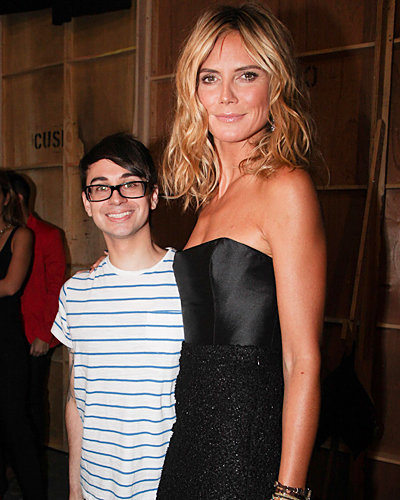 heidi klum - christian siriano - new york fashion week spring 2012 - front row