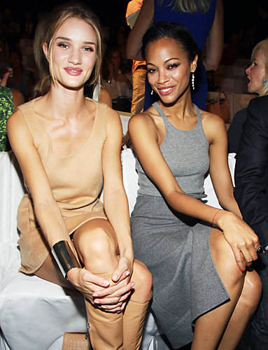 Rosie Huntington-Whiteley and Zoe Saldana