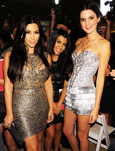 Kim Kardashian, Kourtney Kardashian and Kendall Jenner