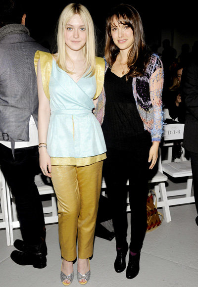 Dakota Fanning and Natalie Portman - Fashion Week