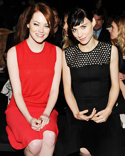 Emma Stone and Rooney Mara - Fashion Week