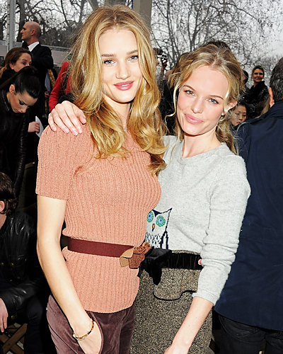 Rosie Huntington-Whiteley and Kate Bosworth - Fashion Week