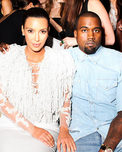 Kim Kardashian and Kanye West - New York Fashion Week