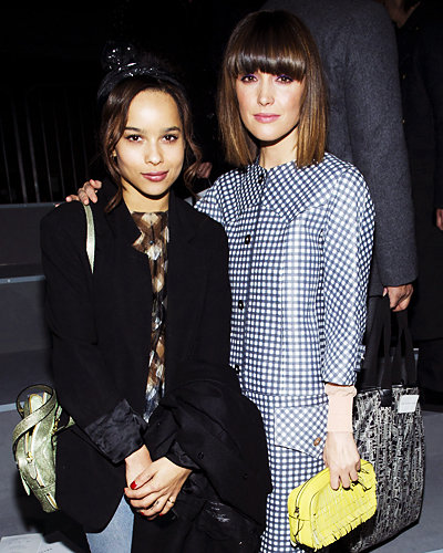 Zoe Kravitz and Rose Byrne - Fashion Week