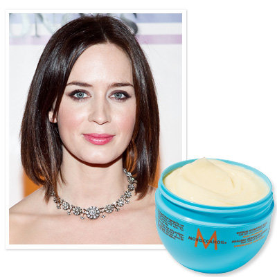 Emily Blunt uses Moroccanoil Intense Hydrating Mask