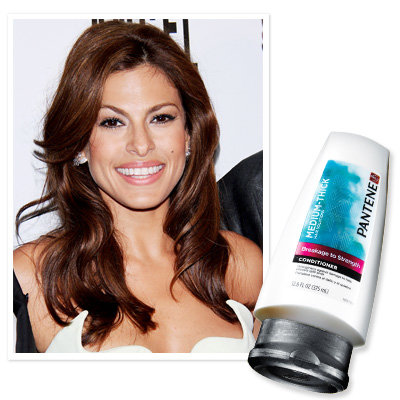 Eva Mendes uses Pantene Breakage To Strength Conditioner