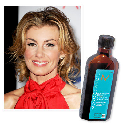 Faith Hill uses Moroccanoil Treatment