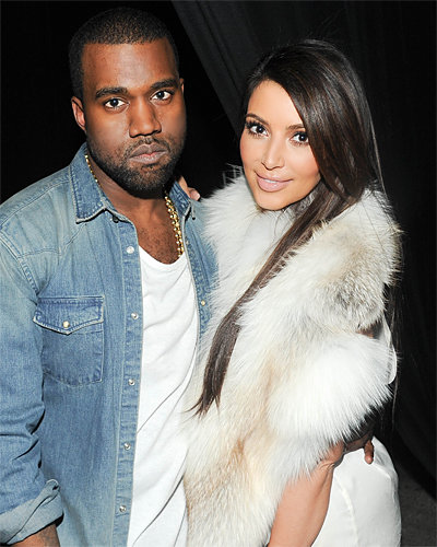 Kanye West and Kim Kardashian - Fashion Week