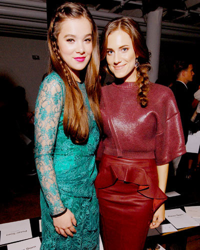 Hailee Steinfeld and Allison Williams - New York Fashion Week