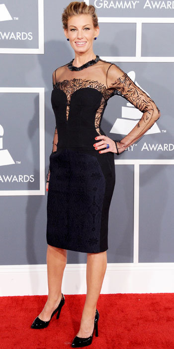Faith Hill at Grammys 2013