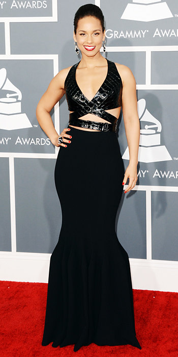 Alicia Keys at Grammys 2013