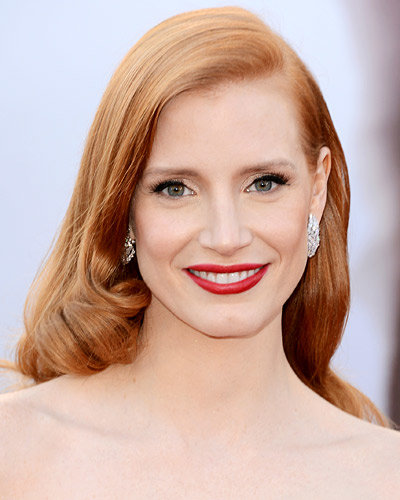 Jessica Chastain's Striking Red Lip