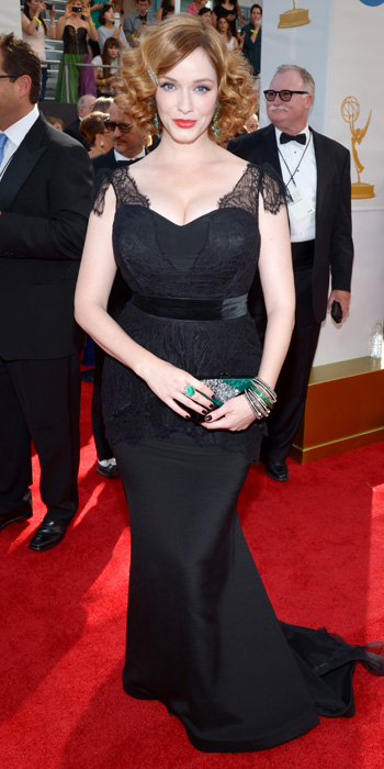 Christina Hendricks in Christian Siriano.