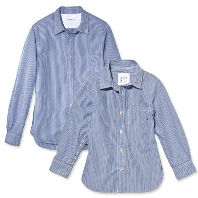 Cotton Newsboy Stripe Shirts