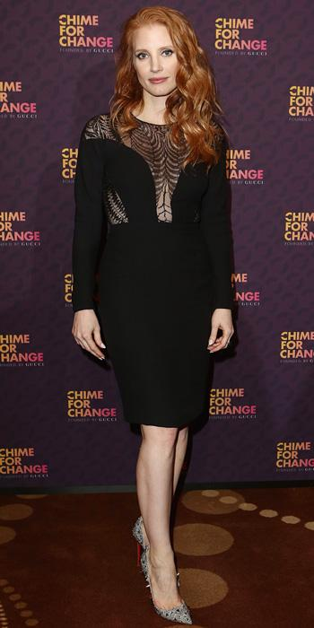 Jessica Chastain in Gucci