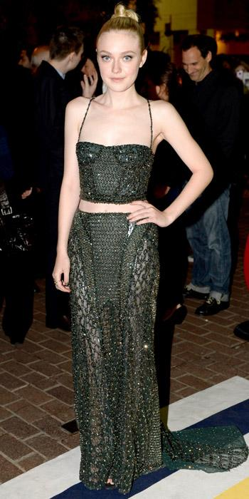 Dakota Fanning in Atelier Versace
