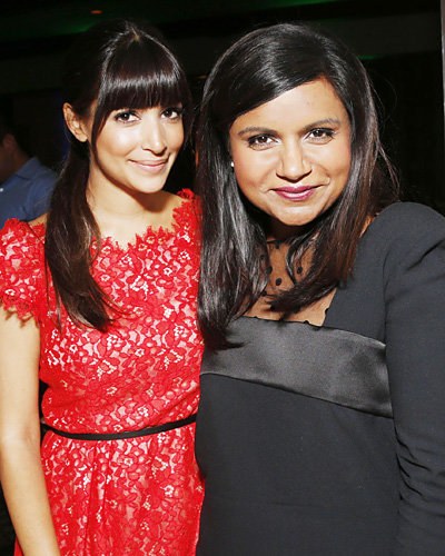 Hannah Simone and Mindy Kaling
