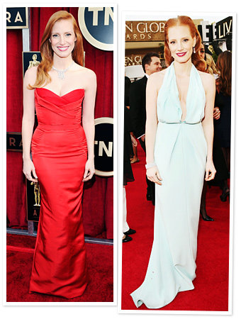"Jessica Chastain's Awards Show Style: ""It's Like Being on a Conveyor Belt!"""
