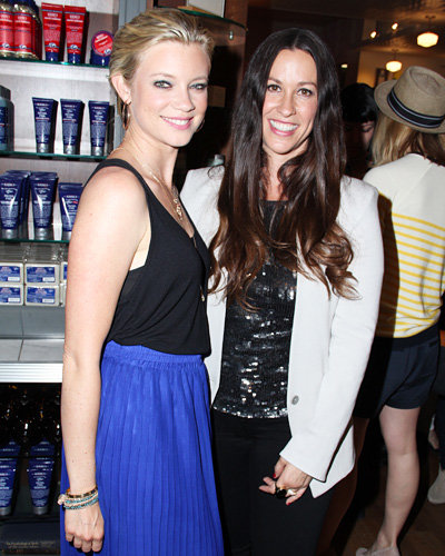 Amy Smart and Alanis Morissette
