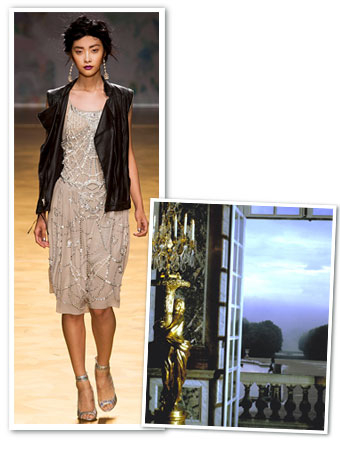 Nicole Miller's Spring 2014 Inspiration: Shattered Chandeliers and Women With Weapons