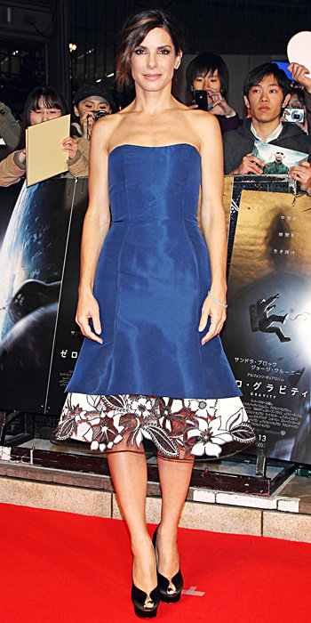 Sandra Bullock in Carolina Herrera
