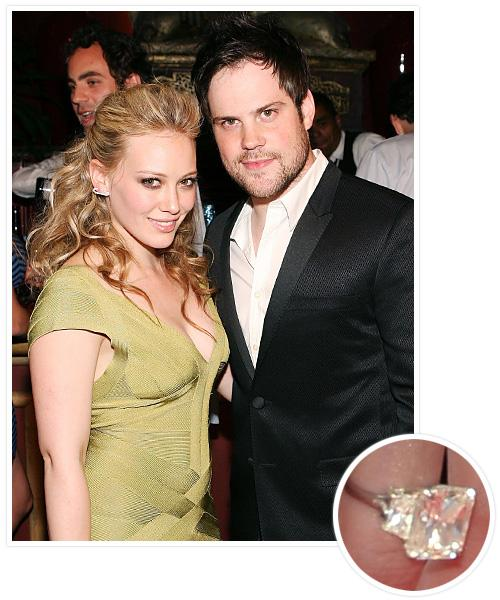 Biggest Celebrity Engagement Rings - Hilary Duff and Mike Comrie