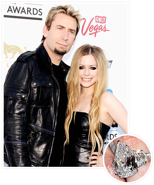 Biggest Celebrity Engagement Rings - Avril Lavigne and Chad Kroeger