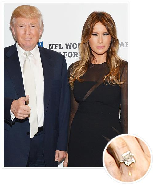 Biggest Celebrity Engagement Rings - Melania Knauss and Donald Trump