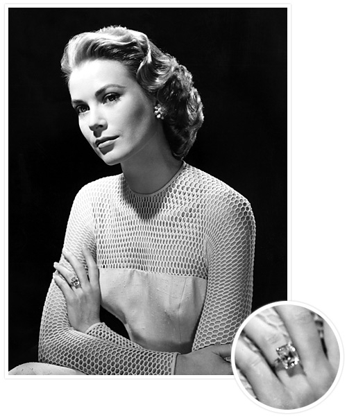 Biggest Celebrity Engagement Rings - Grace Kelly and Prince Rainier III