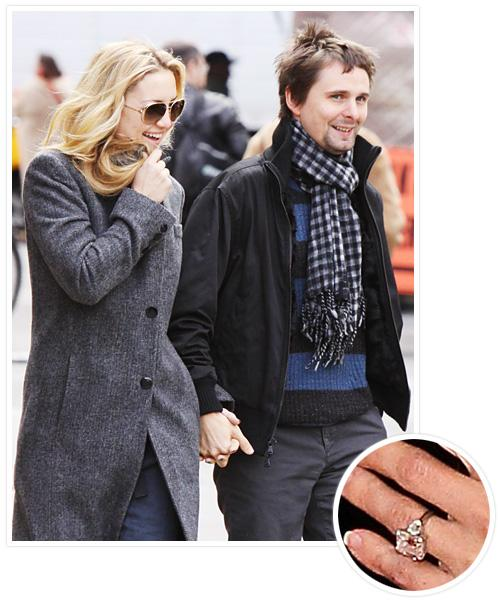 Biggest Celebrity Engagement Rings - Kate Hudson and Matthew Bellamy