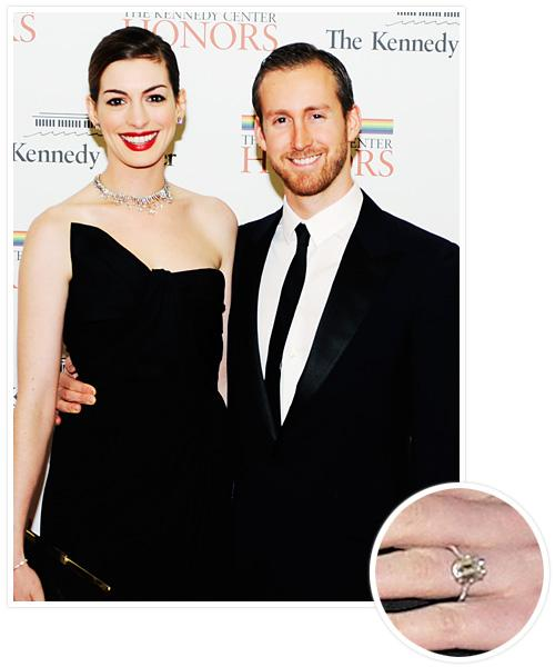 Biggest Celebrity Engagement Rings - Anne Hathaway and Adam Shulman