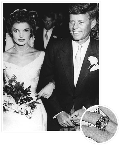 Biggest Celebrity Engagement Rings - Jackie Bouvier and John F. Kennedy