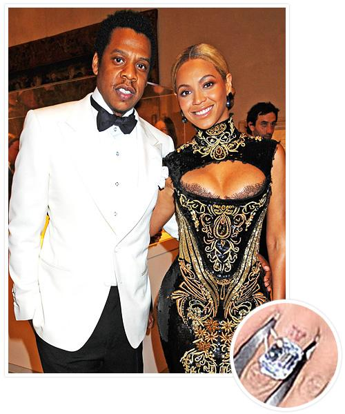 Biggest Celebrity Engagement Rings - Beyonce and Jay-Z