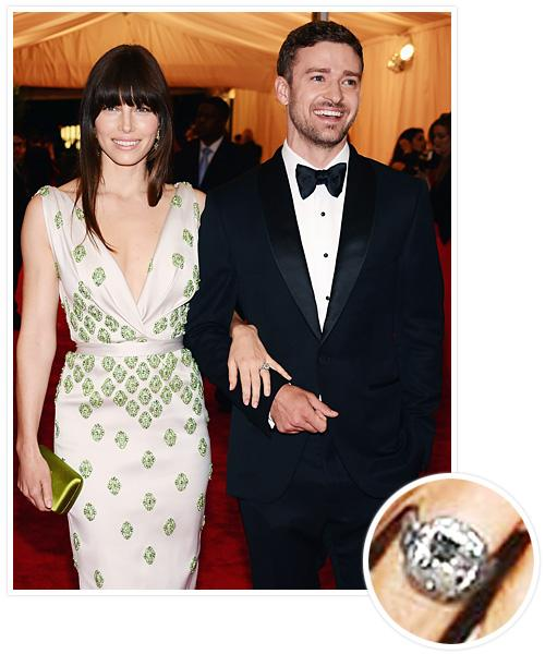 Biggest Celebrity Engagement Rings - Jessica Biel and Justin Timberlake