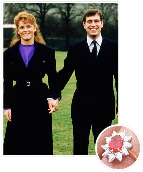 Biggest Celebrity Engagement Rings - Sarah Ferguson and Prince Andrew