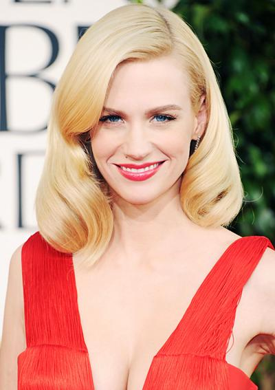 January Jones Golden Globes
