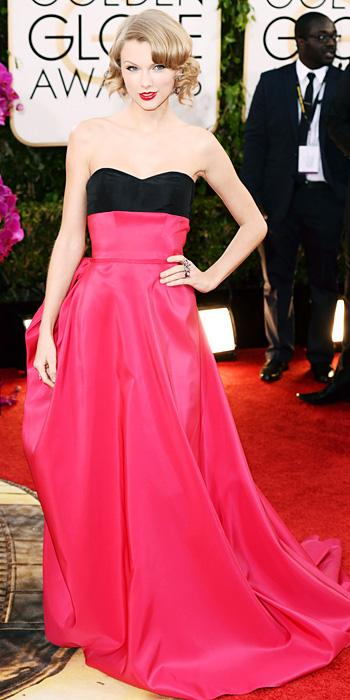 Taylor Swift - Carolina Herrera - Golden Globes 2014