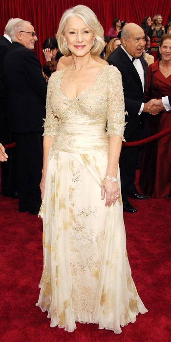 Oscar Dresses - 2007, Helen Mirren in Christian Lacroix