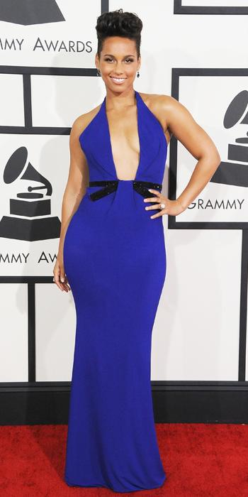 Grammys 2014 - Alicia Keys in Armani Prive