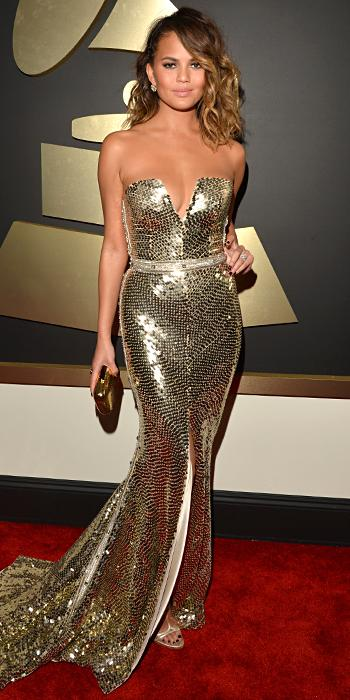 Grammys Arrivals - Chrissy Teigen and John Legend