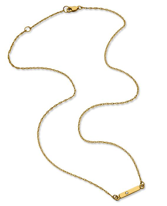 Jennifer Zeuner bar necklace