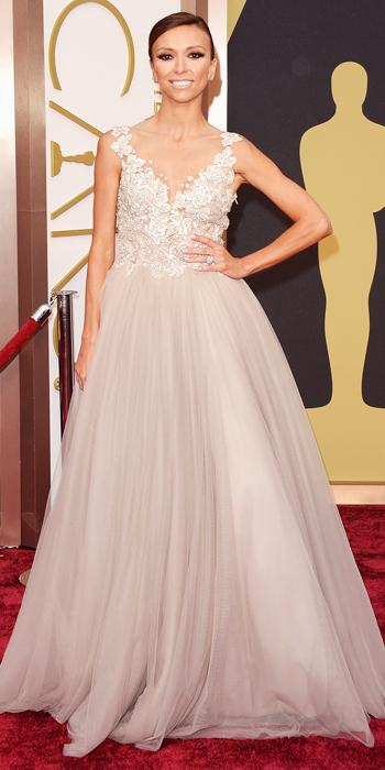 Guiliana Rancic in Paolo Sebastian with Forevermark earrings