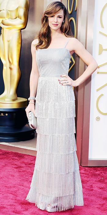 Oscars 2014 - Jennifer Garner in Oscar de la Renta and Forevermark jewels