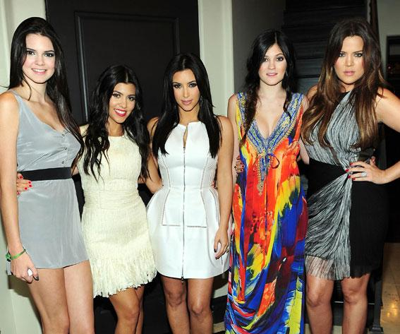 Khloe, Kourtney, and Kim Kardashian and Kylie and Kendall Jenner
