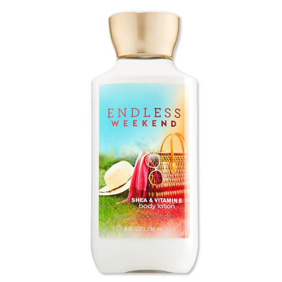 Bath and Body Works Endless Weekend shea and Vitamin E body lotion