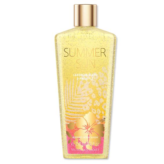 Victoria's Secret Summer Sun Caribbean Guava and pineapple buffing body wash