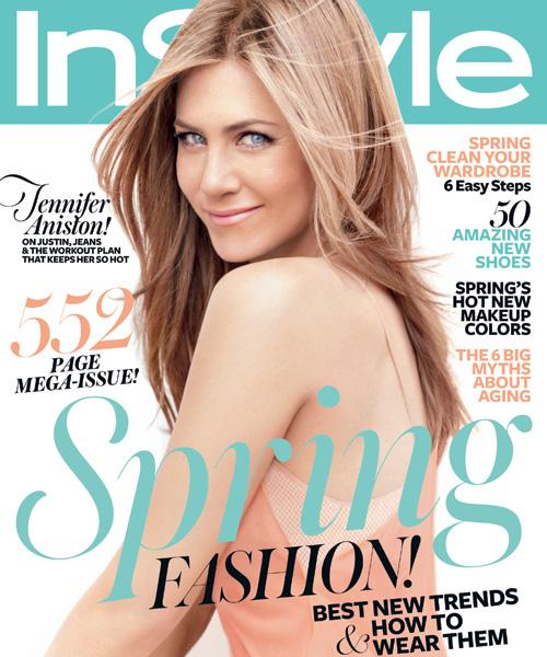 InStyle Covers - March 2012, Jennifer Aniston